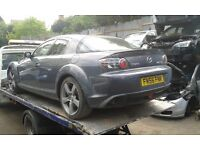 2007 Mazda RX8 RX-8 1.3 4dr coupe 192 grey manual BREAKING FOR SPARES