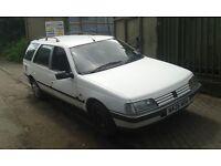 1995 Peugeot 405 1.9 D Turbo GLX white estate BREAKING FOR SPARES