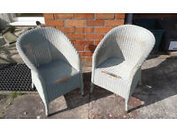 Two genuine 1930s Lloyd Loom chairs