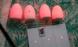 Cordless egg lights