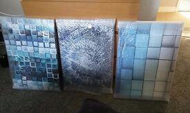 Three pack canvas prints