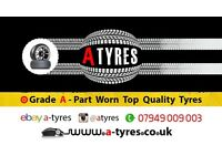 QUALITY USED TYRES (WILL LAST LONGER) 175 185 195 205 215 225 235 245 40 45 50 55 60 65 15 16 17 18