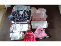 3-6 MTH GIRLS CLOTHING & ACCESSORIES BUNDLE