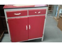 chic vintage retro kitchen cupboard with drawers fab £80.00