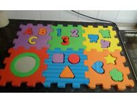 Foam Cube Puzzle, shapes, letters and numbers