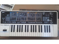 Roland GAIA SH-01 Synthersizer boxed with manual power supply
