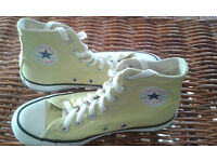 CONVERSE Fresh Yellow Hi-Top Trainers 4 uk