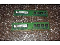 2x Kingston 1GB 2Rx8 PC2-5300U-555-12-E1 9995316-016 DDR2 Desktop Memory Ram 240p