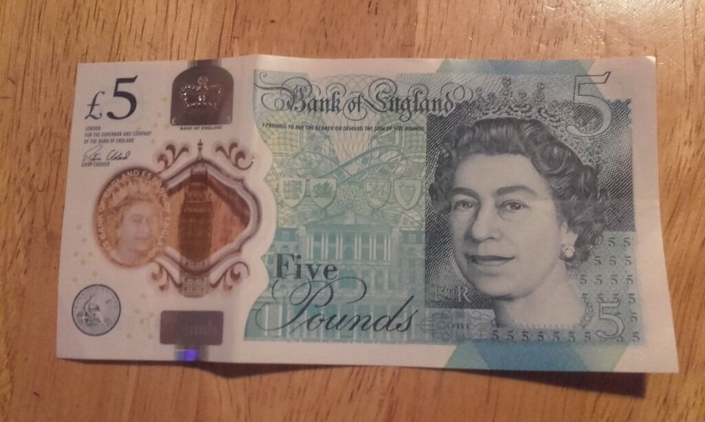 New Rare £5 Note AK52 Mint Condition
