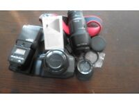 canon600EOS 36m flim,speedlite flash,lens70-210mm,et-62, with other lens 470-52-55.