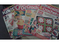 6 Knitting Magazines plus wool