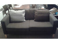 2 Seater Sofa Ikea Karlstead brown fabric