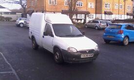 Vauxhall Combo 1.7 Diesel Van, Roof Racks, PAS, Mot till end of April, Taxed