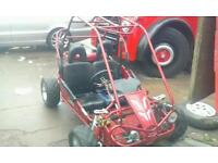 Beach buggy and trailer