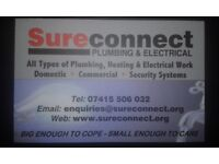 SURECONNECT PE LTD - PLUMBING &ELECTICAL SERVICES-All types of Plumbing Heating & Electrical Work