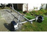 Galvernised boat trailer