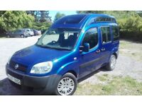 2007 Fiat Doblo 1.4 8v Active 5dr (High Roof - Ideal for camper or wheelchair accessible conversion)