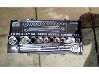 "3/4"" drive socket set heavy duty"