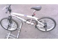 HUFFY QUARTER TON BMX BIKE SINGLE SPEED WITH 4 STUNT PEGS 20 INCH WHEEL AVAILABLE FOR SALE