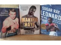 Boxing autobiographys and biographys, old boxers and latest boxers