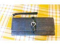 Womens Hato Hasi Small Grey Wristlet Purse Wallet