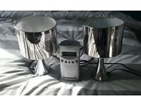 table lamps and clock radio