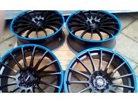 "SET OF 17"" ALLOY WHEEL IN BLACK:::::::::£129.00 ONO"