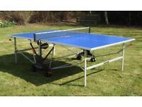 Blue Kettler Stockholm GT Outdoor Table Tennis Table