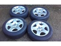 Audi A4 Winter tyres on alloy rims 205/65RR16 91H