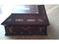 19 c. Indian inlaid box, BEST OFFER. COLLECTION ONLY PLEASE.