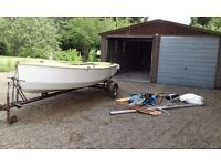 13ft Torch sailing dinghy with outboard and all accessories,