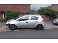 vauxhall corsa spares or repair damaged unrecorded