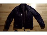 All Saints Black Biker Style Jacket Medium