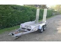 Indespension mini digger plant trailer