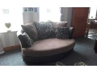 Suede Cuddle sofa excellent condition call or text no time wasters £150