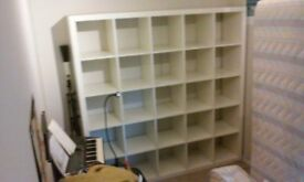 white ikea kallax/expedit bookcase