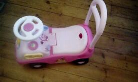 Disney princess pink set and ride walker