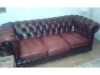 Chesterfield sofa and club chair