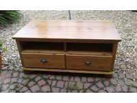 Ikea Markor TV Unit, 2 Drawers, One shelf, Solid Wood