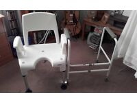 SHOWER CHAIR AND TOILET FRAME FOR SALE RUTHERGLEN AREA