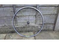 Front road bike wheel campagnolo hub with mavic MA3 rim 700c 622-15 excellent