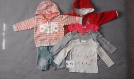 Baby Girls Clothes Bundle 12-18mths Jumpers/Shirts/Short Jeans