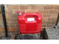 20 LTR RED PLASTIC JERRY CAN