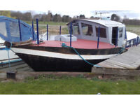 Steel boat project, motor cruiser, river and sea going. 35' LOA, Perkins 6354 engine. Peterborough.