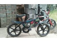 2 x Raleigh Mini Street Wolf's BMX Bikes