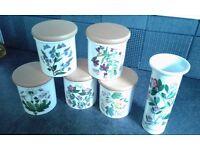 Portmeirion Botanic Garden Spice Jars & Bud Vase