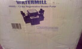 watermill twin impellerPR5000D- 1.5 bar regenerative shower pump