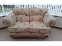 large two seater one chair and footstool