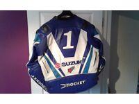 Joe rocket leather jacket ( guy martin signed suzuki kawasaki ducati triumph honda Yamaha motorbike