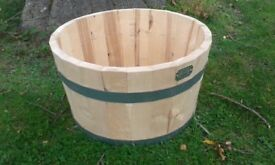 SOLID BIRCH WOOD GARDEN PLANTER READY TO PAINT